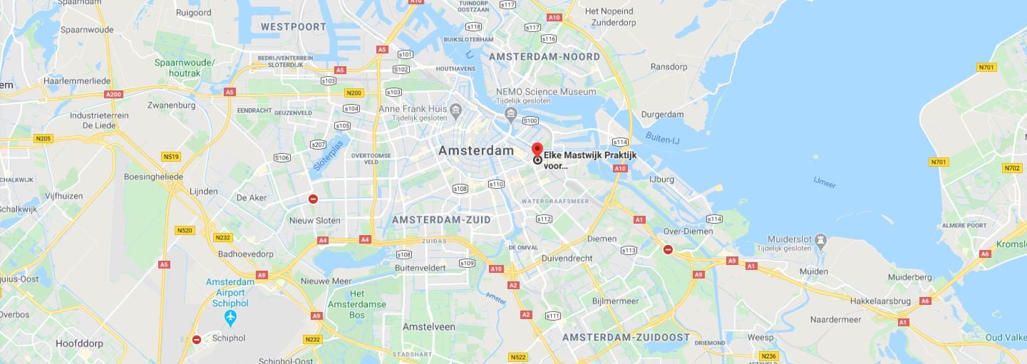 route naar elke mastwijk amsterdam